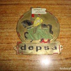 Coches y Motocicletas: (REF-001) ANTIGUA PLACA CHAPA PARA COCHE DE LATON DEPSA. Lote 212885923