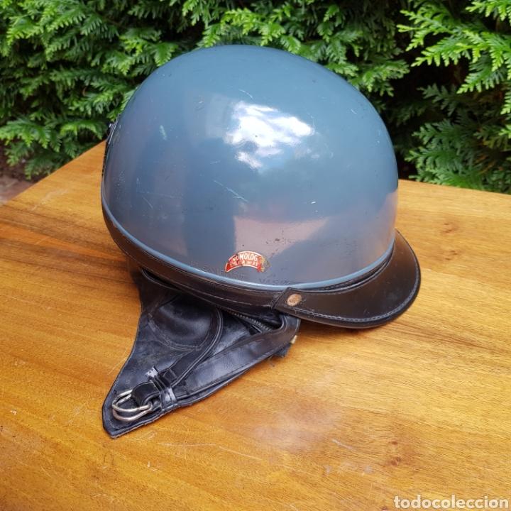 Coches y Motocicletas: ANTIGUO CASCO PARA MOTOCICLETA FLEXIFORT VASCA - Foto 12 - 215082265