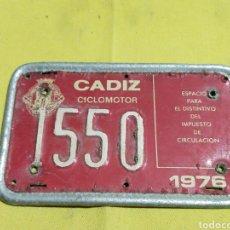 Coches y Motocicletas: ANTIGUA MATRICULA DE CICLOMOTOR 1976. Lote 219444391