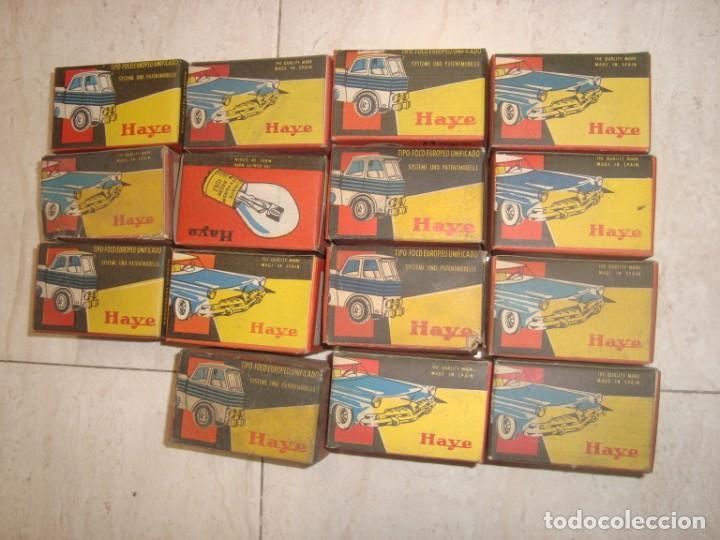 LOTE DE 15 BOMBILLAS LAMPARAS HAYE PARA VEHICULO , AÑOS 70 VINTAGE (Coches y Motocicletas - Repuestos y Piezas (antiguos y clásicos))