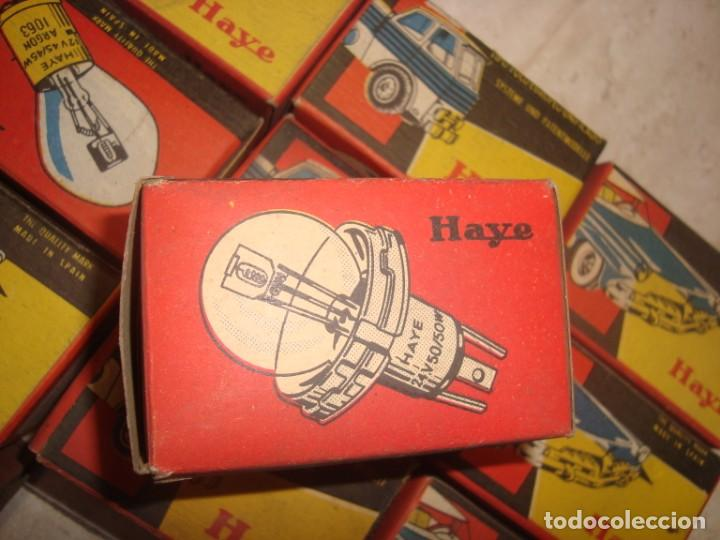 Coches y Motocicletas: lote de 15 bombillas lamparas haye para vehiculo , años 70 vintage - Foto 3 - 219969856