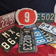 Coches y Motocicletas: LOTE DE MATRICULAS ANTIGUAS DE COCHES. Lote 221680425