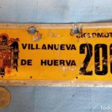 Coches y Motocicletas: MATRICULA EPOCA FRANQUISTA - VILLANUEVA DE HUERVA - ZARAGOZA. Lote 221705630