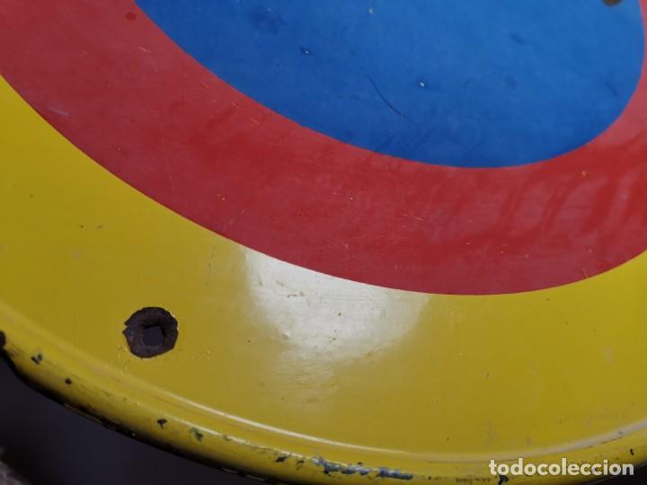 Coches y Motocicletas: SEÑAL PLACA TRAFICO -SALIDA VEHICULOS Y VADO PERMANENTE FABRICADA POR TUBAUTO 1960-67 - Foto 11 - 224283895