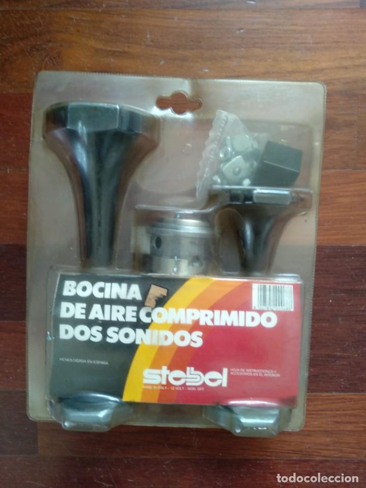 BOCINA AIRE COMPRIMIDO DOS SONIDOS (Coches y Motocicletas - Repuestos y Piezas (antiguos y clásicos))