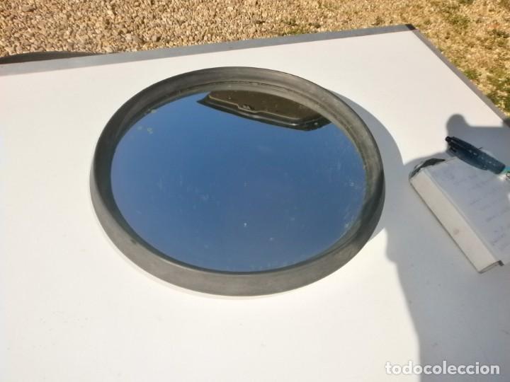 Coches y Motocicletas: Antiguo espejo retrovisor redondo 23 cm. diámetro de coche puede ser citroen - Foto 3 - 226143043