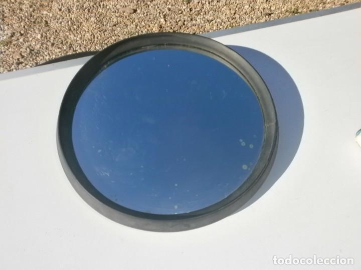 Coches y Motocicletas: Antiguo espejo retrovisor redondo 23 cm. diámetro de coche puede ser citroen - Foto 6 - 226143043