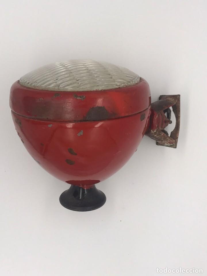 ANTIGUO FARO ROJO DE COCHE MARCA ELBA (Coches y Motocicletas - Repuestos y Piezas (antiguos y clásicos))
