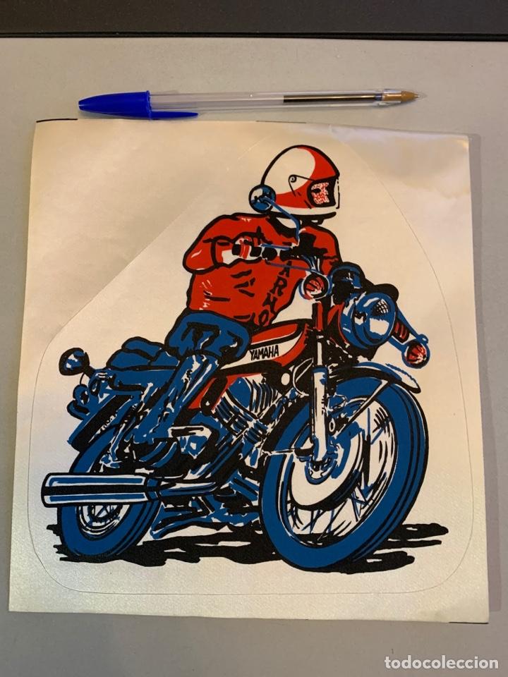 MOTO YAMAHA ANTIGUO PARCHE ; PARA CHAQUETA. 21X20 CM (Coches y Motocicletas - Repuestos y Piezas (antiguos y clásicos))