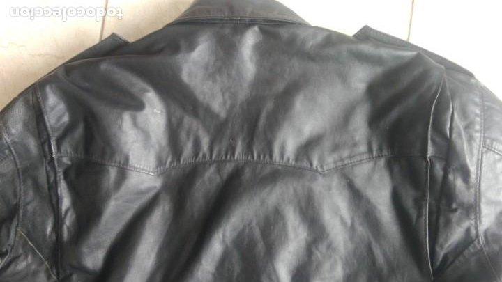 Coches y Motocicletas: Cazadora de cuero antigua tipo motorista chaqueta piel rockero - Foto 5 - 241668315