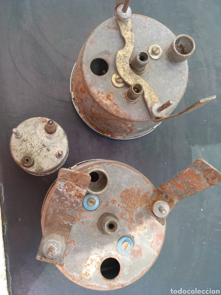 Coches y Motocicletas: Antiguo Juego de contadores JAEGER, made in england. VELOCÍMETRO, etc .Coche ingles - Foto 10 - 196638588