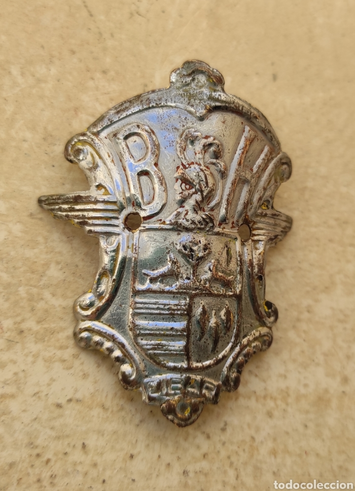 Coches y Motocicletas: Antigua Insignia - Emblema - Placa Frontal Bicicletas BH - - Foto 2 - 247162645