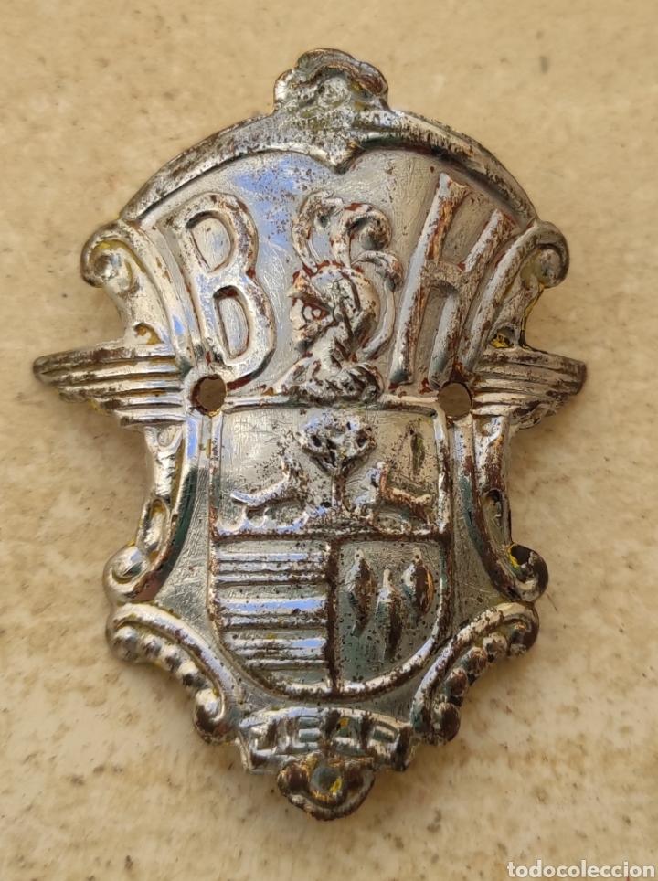 Coches y Motocicletas: Antigua Insignia - Emblema - Placa Frontal Bicicletas BH - - Foto 4 - 247162645