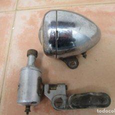 Coches y Motocicletas: LOTE COMPUESTO POR FARO Y DINAMO ANTIGUOS BOSCH.. Lote 249180705