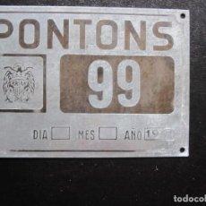 Carros e motociclos: MATRICULA AGRICOLA PONTONS AÑO 1961. Lote 253633495