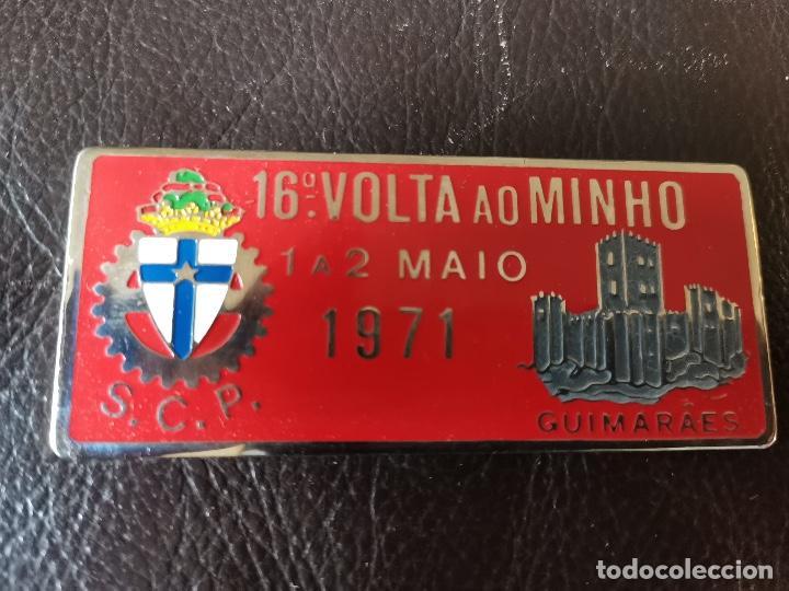 1971PLACA PUBLICIDAD 16ª VOLTA AO MINHO - GUIMARÃES - C.C.P - AUTOMOVILISMO (Coches y Motocicletas - Repuestos y Piezas (antiguos y clásicos))