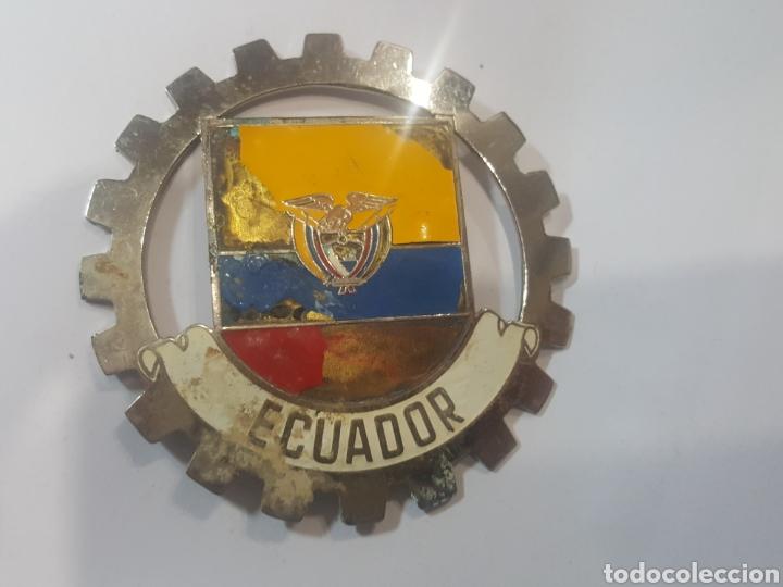 EXCEPCIONAL Y ANTIGUA PLACA ESMALTADA PARA COCHE ROTARY CLUB. 8 CM. ECUADOR. IMPECABLE (Coches y Motocicletas - Repuestos y Piezas (antiguos y clásicos))