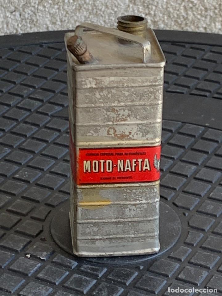 Coches y Motocicletas: BIDON MINIATURA MOTO NAFTA ACEITE AUTOMOVILES ESENCIA ESPECIAL MITAD S XX PUBLICIDAD 9X3X3CMS - Foto 3 - 276915518
