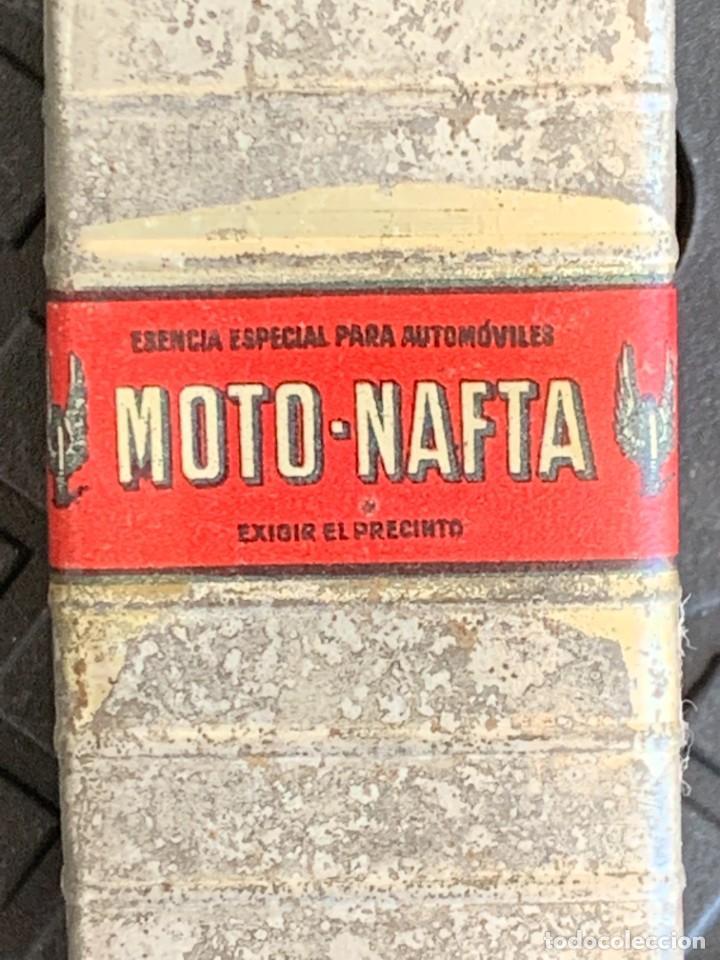 Coches y Motocicletas: BIDON MINIATURA MOTO NAFTA ACEITE AUTOMOVILES ESENCIA ESPECIAL MITAD S XX PUBLICIDAD 9X3X3CMS - Foto 7 - 276915518