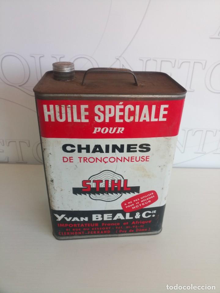 Coches y Motocicletas: Lata lubricantes aceite motosierra Stihl - Foto 3 - 278184143