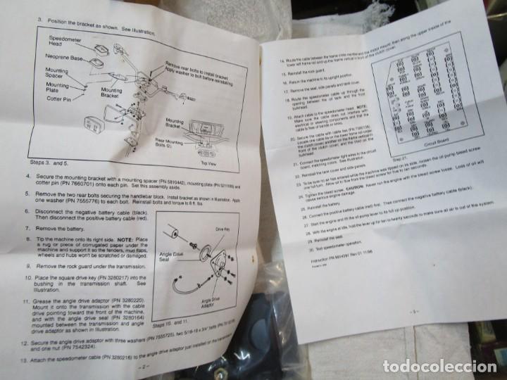 Coches y Motocicletas: MOTOCICLETA YAMAJA DP?? - KIT CUENTA KILOMETROS, TOTALIZADOR TRASMISOR Y VELOCIDAD INGLES POLARIS. + - Foto 7 - 288540533