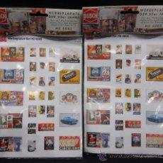 Trenes Escala: BUSCH 6002. CARTELES PUBLICITARIOS DECORATIVOS PARA MAQUETAS HO. Lote 35678231