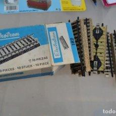 Repuestos y piezas: CAJA CON 9 VIAS ELECTROTREN H0 . Lote 146940296