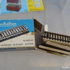 Repuestos y piezas: CAJA CON 9 VIAS ELECTROTREN H0 . Lote 146940404