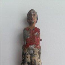 Repuestos y piezas: ANTIGUO JUGADOR MUÑECO DE FUTBOLIN. METALICO. APROXIMADAMENTE 13 CM DE ALTO. Lote 122574527
