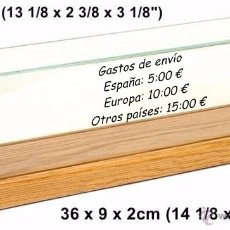 Trenes Escala: WHITE ROSE COLECCIONES URNA DE POLICARBONATO Y MADERA. Lote 56127242