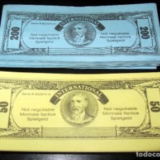 Ricambi e pezzi: BILLETES JUEGO DE MESA INTERNATIONAL 50 DE 50 Y 50 DE 200 DESCONOZCO EL JUEGO MONOPOLY PALE ???. Lote 175918558