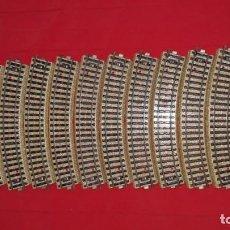 Repuestos y piezas: LOTE 14 VIAS RECTAS METÁLICAS. Lote 140141974