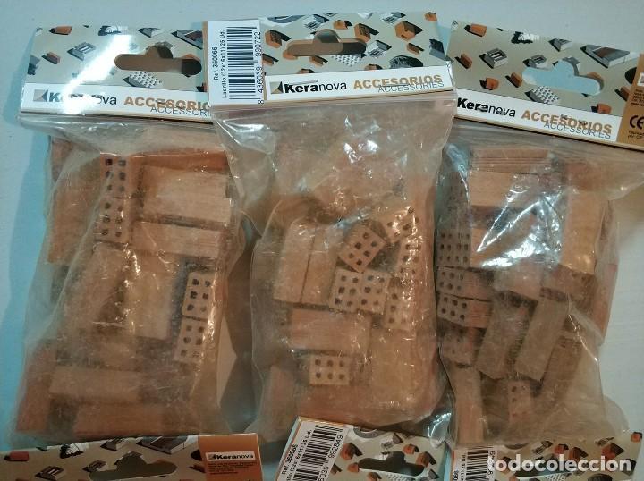 Repuestos y piezas: Keranova 350066 lote de 6 bolsas de 25 ladrillos escala 1:10 total 150 ladrillos maqueta - Foto 4 - 150488494