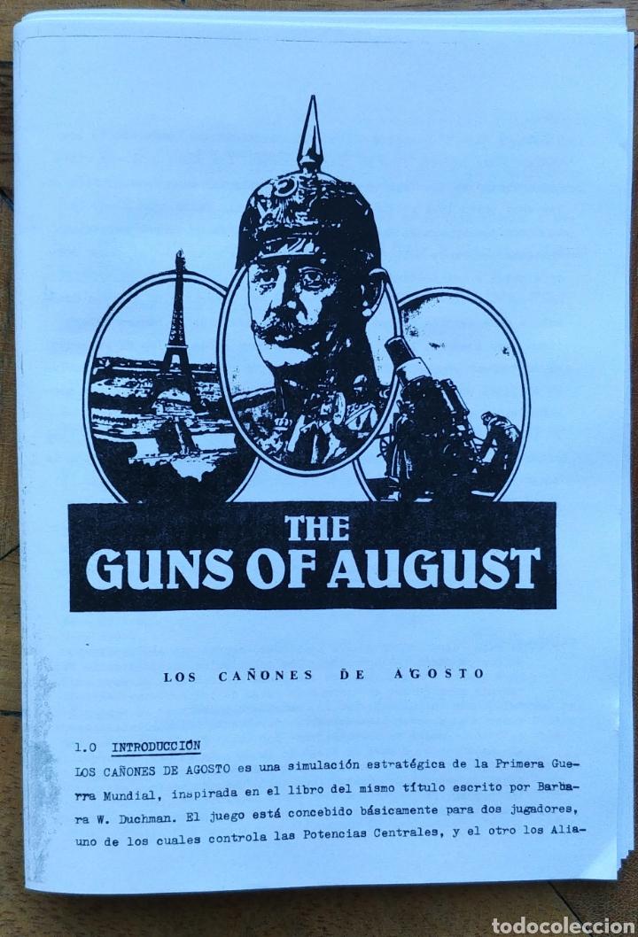 INSTRUCCCIONES GUNS OF AUGUST. TRADUCCIÓN ESPAÑOL (Juguetes - Repuestos y Piezas)