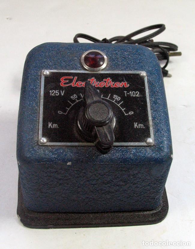 TRANSFORMADOR ELECTROTREN T-102. 125 V (Juguetes - Repuestos y Piezas)