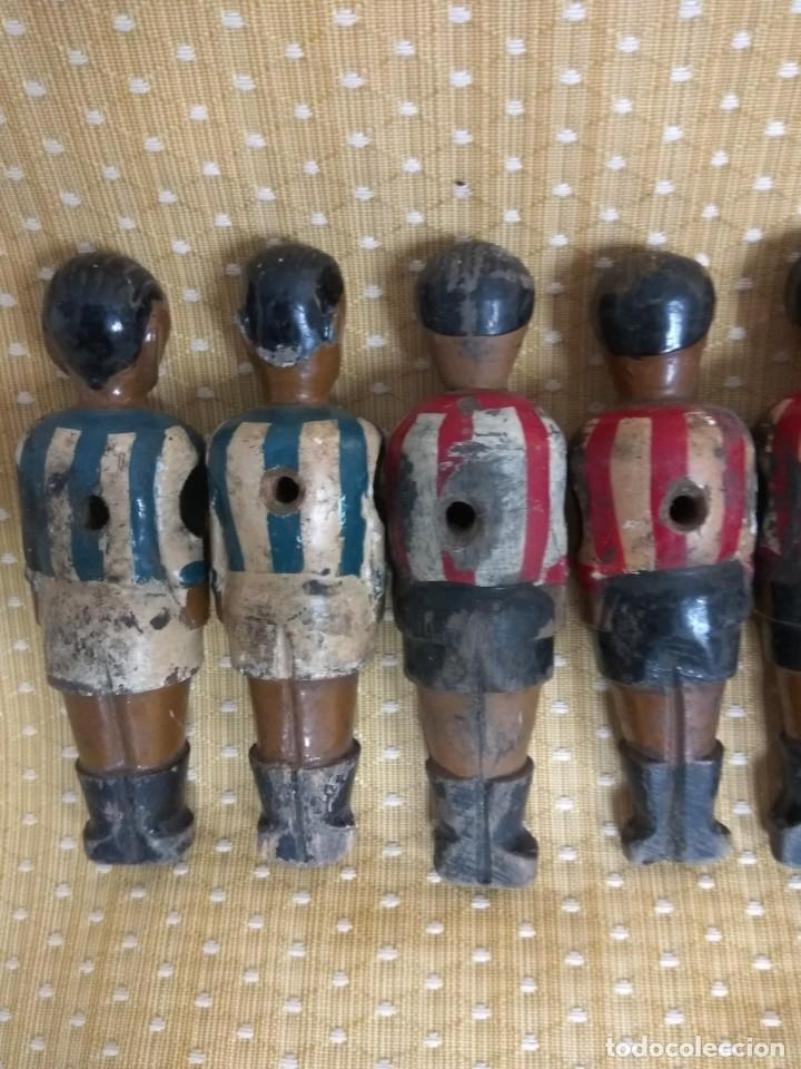 Repuestos y piezas: 8 MUÑECOS DE FUTBOLIN ANTIGUOS - Foto 9 - 164744866