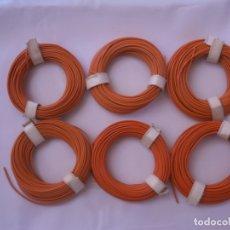 Repuestos y piezas: 6 ROLLOS DE CABLE DE 10 METROS CADA UNO, COLOR VERDE. Lote 166683374