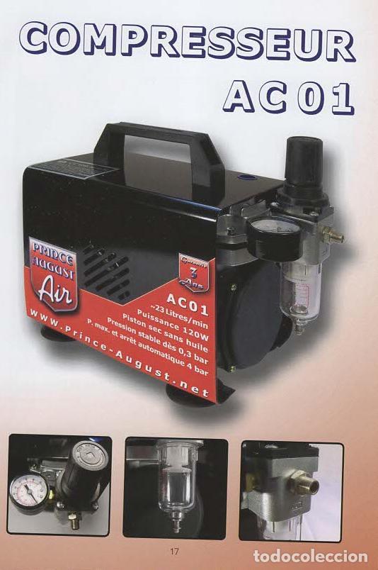 Repuestos y piezas: PACK AEROGRAFO + COMPRESOR PRINCE AUGUST - Foto 3 - 187447176