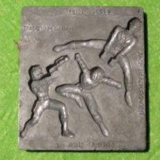 Repuestos y piezas: MOLDE METÁLICO - 1995 SABAN - TOYMAX 132-1 - POWER RANGERS - ZACK BLACK RANGER - VER FOTOS . Lote 193575806