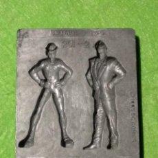 Repuestos y piezas: MOLDE METÁLICO - 1994 DC COMICS - TOYMAX 201-2 - VILLANOS DE BATMAN - DOS CARAS Y ENIGMA - VER FOTO. Lote 193576230