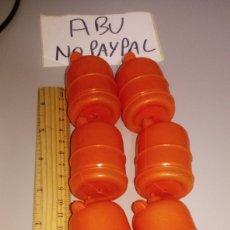 Repuestos y piezas: LOTE 7 BOMBONA BUTANO ANTIGUA JUGUETE DE PLÁSTICO 5.5 CM APROX. Lote 210531413