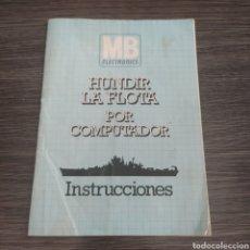 Peças sobresselentes e peças: HUNDIR LA FLOTA POR COMPUTADOR INSTRUCCIONES MB ELECTRONICS. Lote 265502279