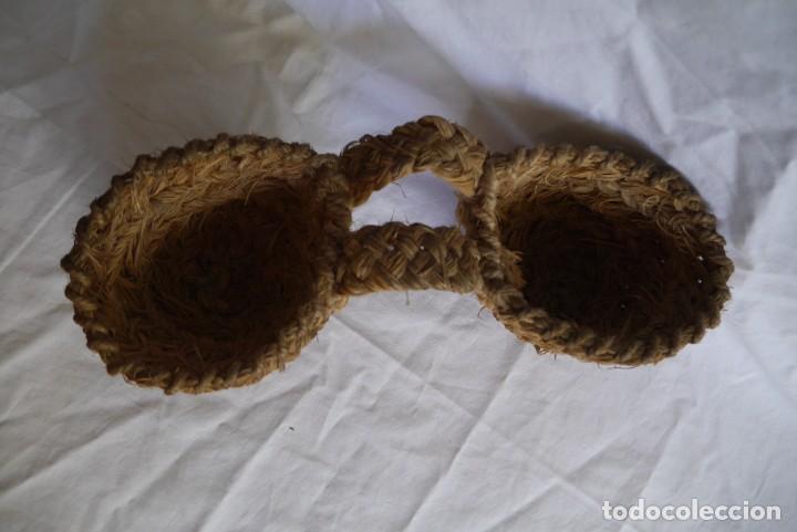 Repuestos y piezas: Alforjas de esparto miniatura para burro de juguete - Foto 2 - 289589928