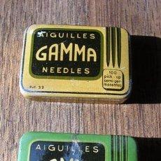 Radios antiguas: AGUJAS GAMMA -- SWISS MADE--DOS CAJITAS-. Lote 27616120
