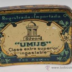 Radios antiguas: CAJA DE AGUJAS PARA GRAMOFONO UMUS. Lote 24351834