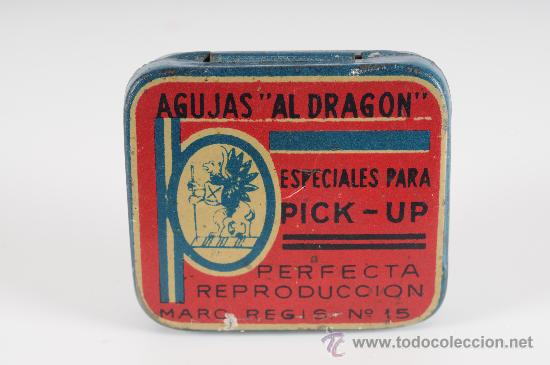 CAJA DE AGUJAS PARA GRAMOFONO AL DRAGON (Radios, Gramófonos, Grabadoras y Otros - Repuestos y Lámparas a Válvulas)