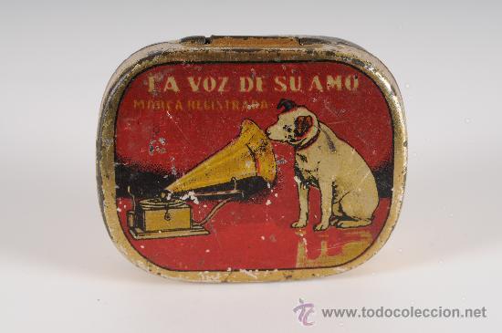 CAJA DE AGUJAS PARA GRAMOFONO LA VOZ DE SU AMO (Radios, Gramófonos, Grabadoras y Otros - Repuestos y Lámparas a Válvulas)