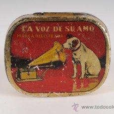 Radios antiguas: CAJA DE AGUJAS PARA GRAMOFONO LA VOZ DE SU AMO. Lote 24354762
