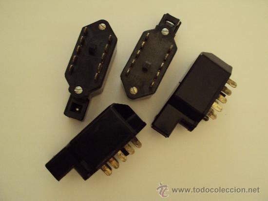 4 CLAVIJAS/CONECTORES SEGUN FOTOS 10 CONTACTOS (Radios, Gramófonos, Grabadoras y Otros - Repuestos y Lámparas a Válvulas)