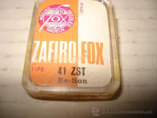Radios antiguas: Antigua Aguja para Tocadiscos ZAFIRO FOX 41 ZST Re-Son Nueva en su Caja Original . - Foto 2 - 29406023